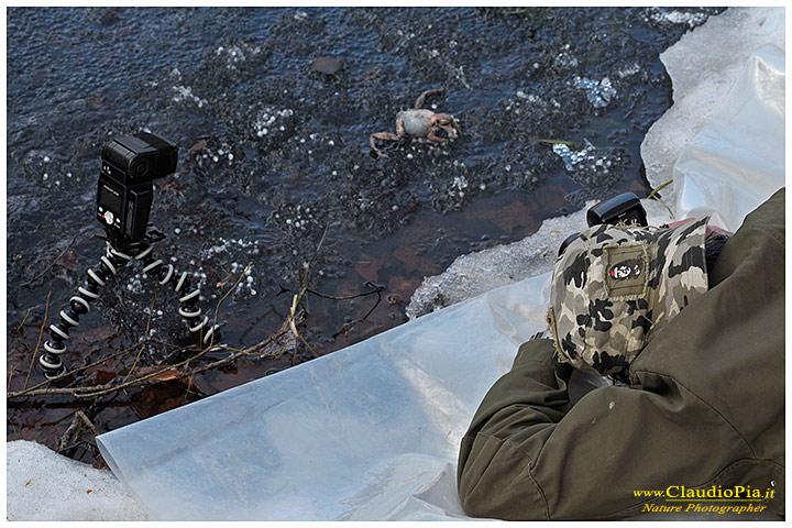 Il rischio è che il ghiaccio si rompa e splash!!!! (Foto di Rocco acremar.it)