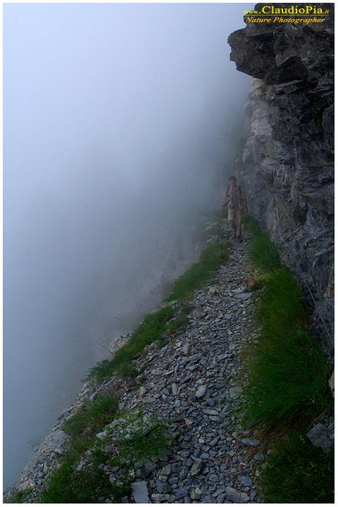 Francesco Tomasinelli nella nebbia