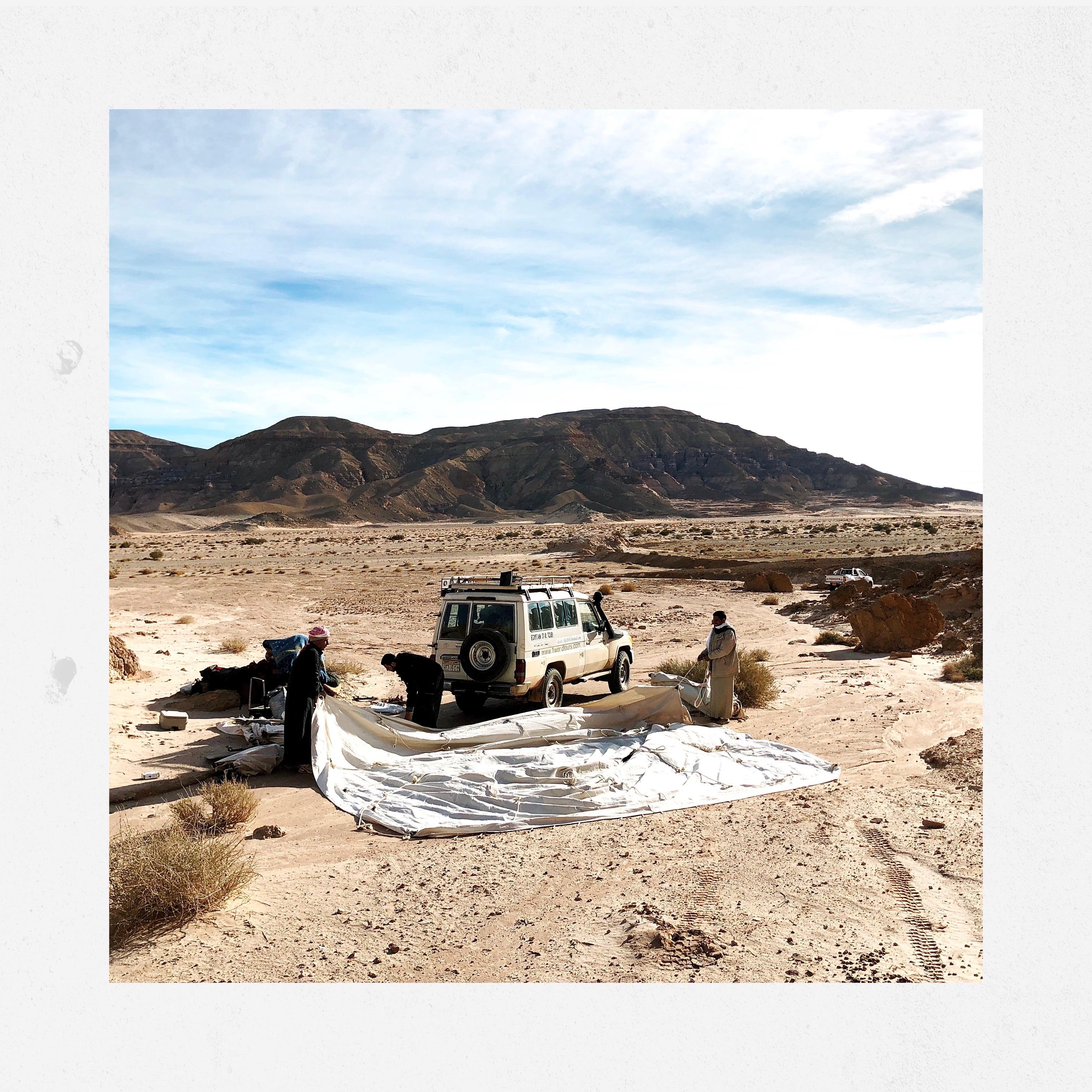 Wadi Zalaqa, montiamo di nuovo la tenda