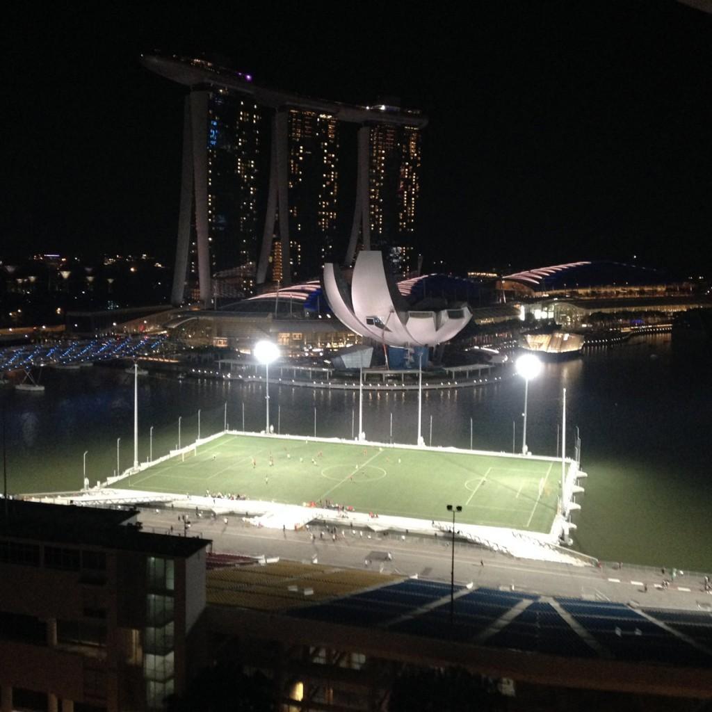 Singapore dalla finestra della mia stanza al 16esimo piano