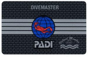 PADI-Divemaster-Card