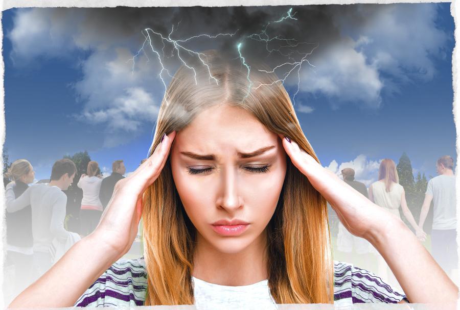 Открытки, картинки головной боли на смену погоды