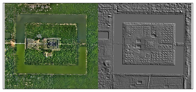 LIDAR Angkor Wat temple