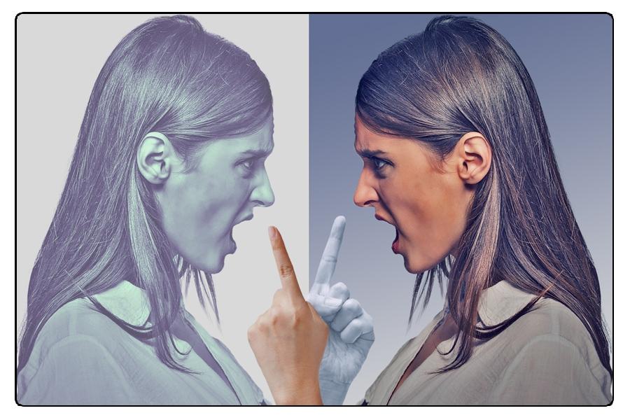 Parità Di Oscuro Il Femminile Genere Lato Aggressività Della PUXqx