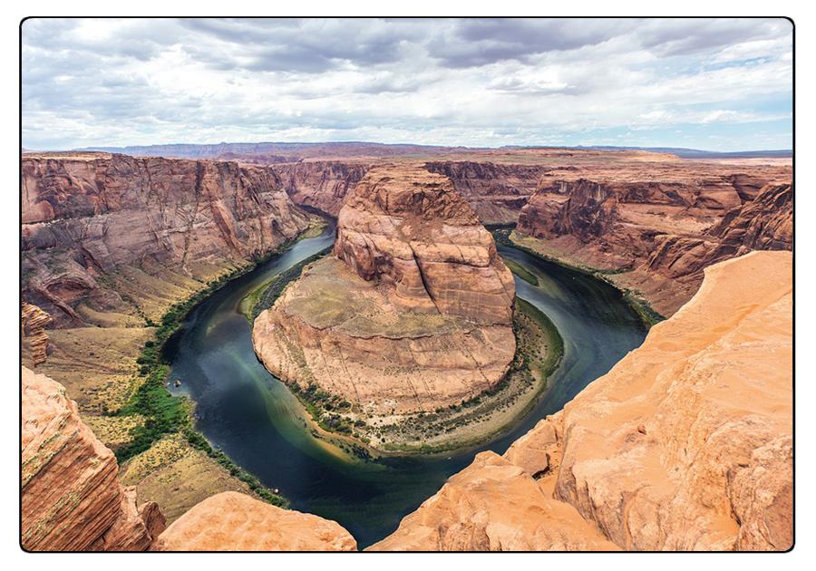 Fenomeni erosivi nel San Juan River, Colorado